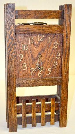 """Sessions Mission Oak """"Jupiter"""" Clock"""