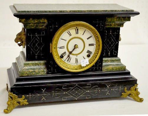 "Seth Thomas ""Petrel"" Adamantine Mantel Clock"