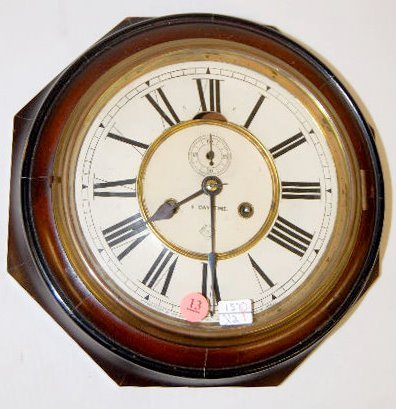 Ansonia Rosewood Octagon Lever Clock