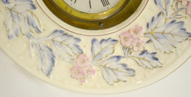 French Avalon Baby Faience Plate Clock - 3