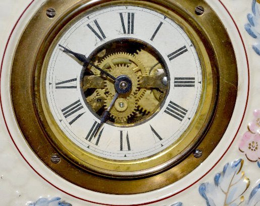 French Avalon Baby Faience Plate Clock - 4