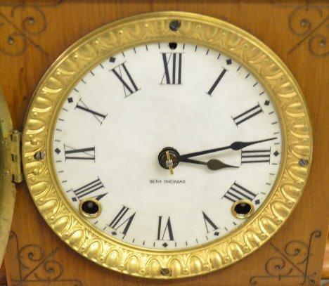 Seth Thomas Wood Mantel Clock - 3