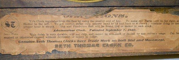 Seth Thomas Wood Mantel Clock - 4
