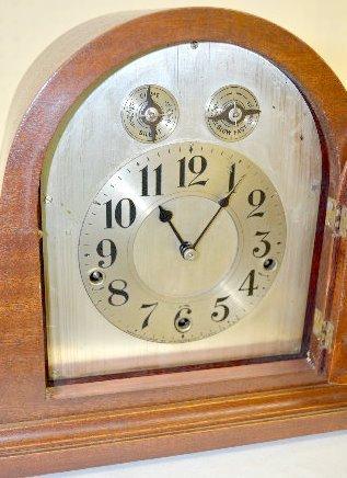 Waterbury Cherry Westminster Tambour Clock - 2