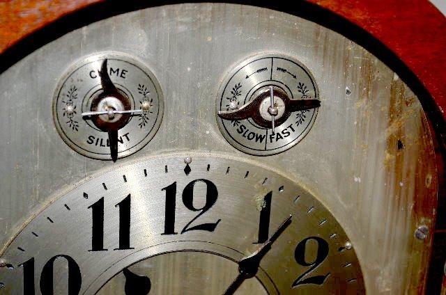 Waterbury Cherry Westminster Tambour Clock - 3