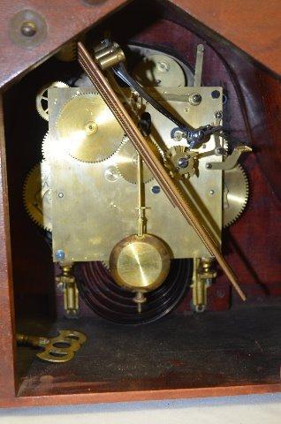 Waterbury Cherry Westminster Tambour Clock - 4