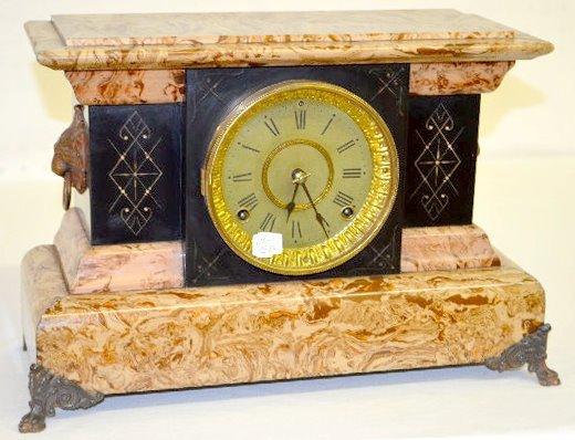 Seth Thomas Caramel Slag Adamantine Mantel Clock