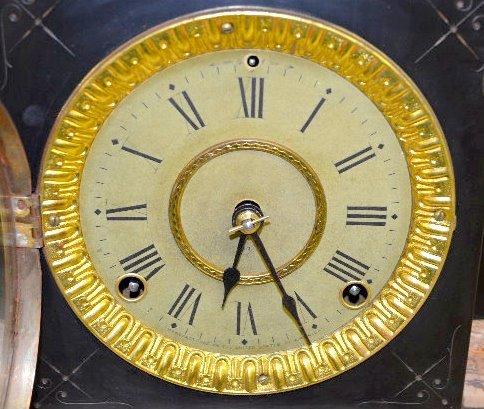 Seth Thomas Caramel Slag Adamantine Mantel Clock - 3