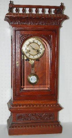 Badische Uhrenfabrik 2 Piece RA Shelf Clock