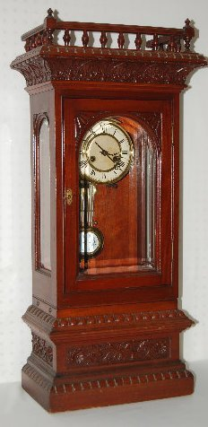 Badische Uhrenfabrik 2 Piece RA Shelf Clock - 2