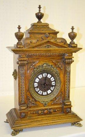 "Gazo Oak ""Mission Bay"" Chiming Cabinet Clock"