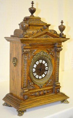 "Gazo Oak ""Mission Bay"" Chiming Cabinet Clock - 2"