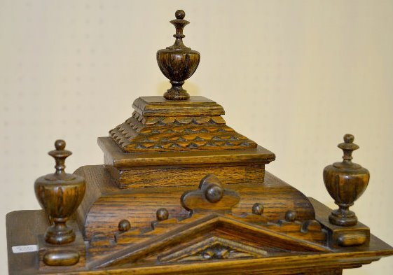 "Gazo Oak ""Mission Bay"" Chiming Cabinet Clock - 3"