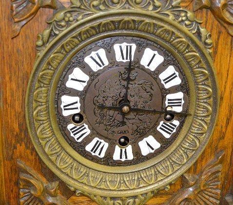"Gazo Oak ""Mission Bay"" Chiming Cabinet Clock - 5"
