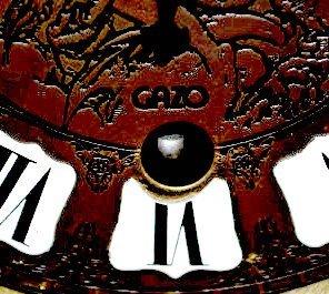 "Gazo Oak ""Mission Bay"" Chiming Cabinet Clock - 6"