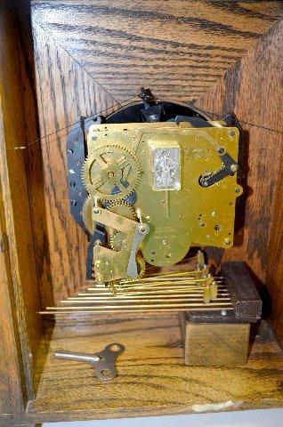 "Gazo Oak ""Mission Bay"" Chiming Cabinet Clock - 7"