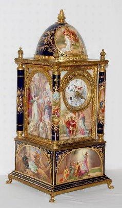 Lenzkirch Austrian Beehive Porcelain Mantel Clock
