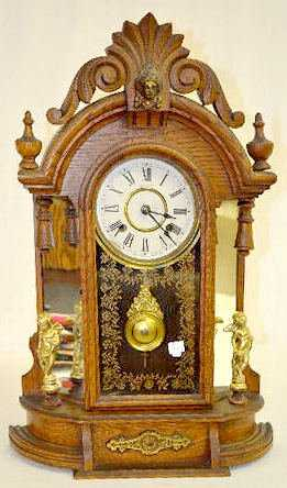 New Haven Occidental Mirror Side Mantel Clock
