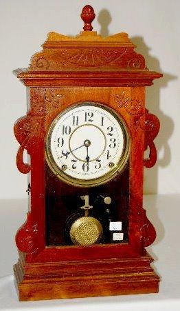 Seth Thomas Black Walnut Shelf Clock