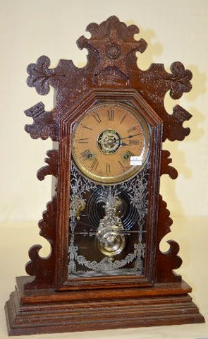"Ansonia Black Walnut ""Berkeley"" Kitchen Clock"