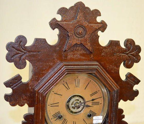 "Ansonia Black Walnut ""Berkeley"" Kitchen Clock - 2"