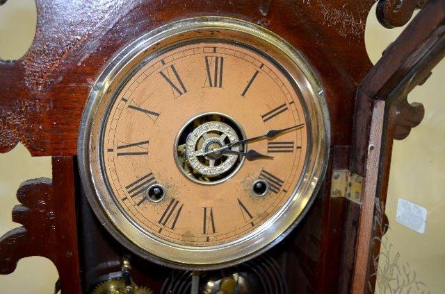 "Ansonia Black Walnut ""Berkeley"" Kitchen Clock - 3"