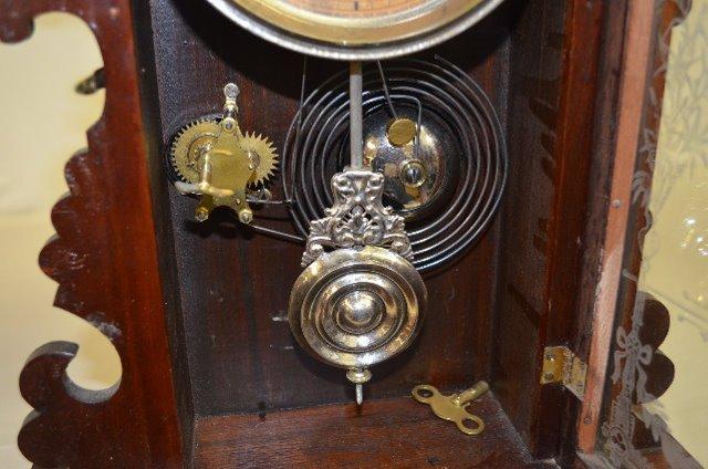 "Ansonia Black Walnut ""Berkeley"" Kitchen Clock - 4"