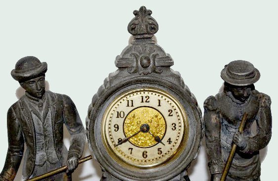 "Ansonia Double Statue Clock, ""Croquet"" - 2"