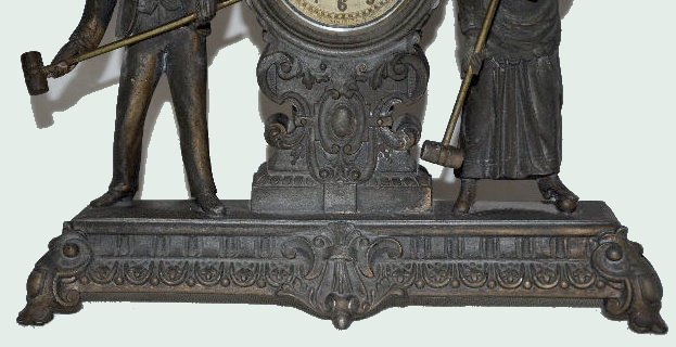 "Ansonia Double Statue Clock, ""Croquet"" - 3"