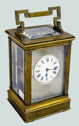 Antique French Engraved Carriage Clock