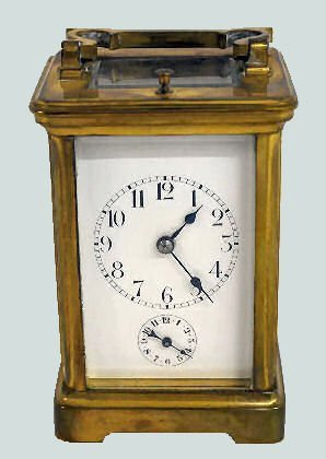 French Repeater Alarm Carriage Clock