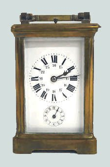 Antique French Striking Alarm Carriage Clock