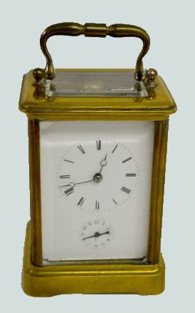 French Japy Freres Alarm Carriage Clock