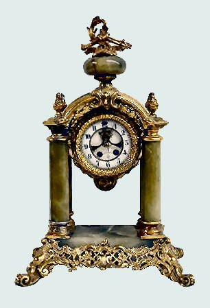 "Gilbert ""Tuscan"" Green Onyx Clock"