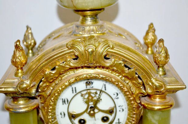 "Gilbert ""Tuscan"" Green Onyx Clock - 3"