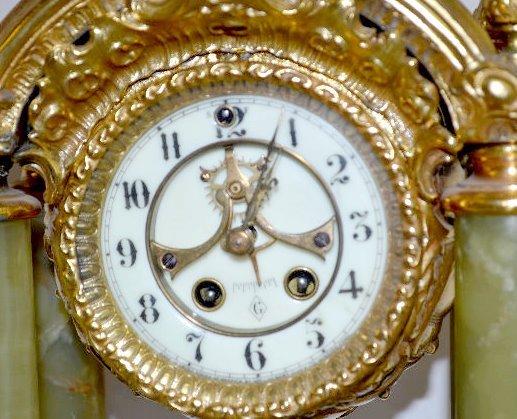 "Gilbert ""Tuscan"" Green Onyx Clock - 4"