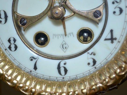 "Gilbert ""Tuscan"" Green Onyx Clock - 5"