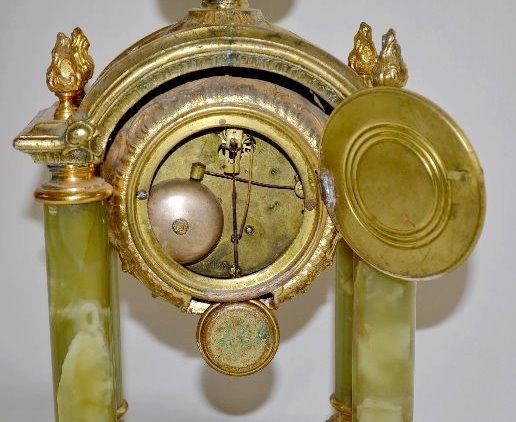 "Gilbert ""Tuscan"" Green Onyx Clock - 7"