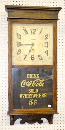 """Sessions Oak """"Coca Cola"""" Regulator Clock"""