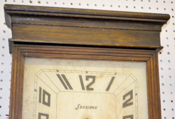 """Sessions Oak """"Coca Cola"""" Regulator Clock - 2"""