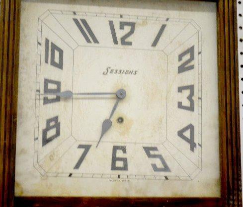 """Sessions Oak """"Coca Cola"""" Regulator Clock - 3"""