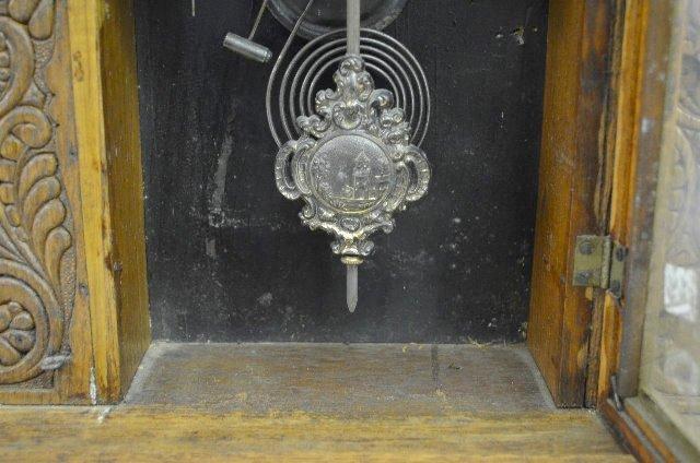 """Ingraham """"Gila"""" Oak Calendar Kitchen Clock - 4"""