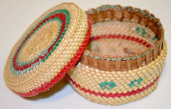 4 Small Native American Basketry Items - 5