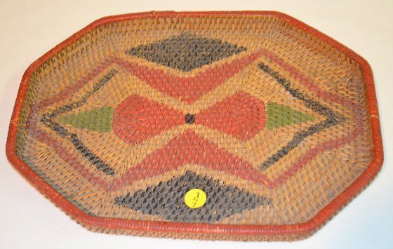 4 Small Native American Basketry Items - 8