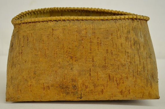 Old Native American Birch Bark Container