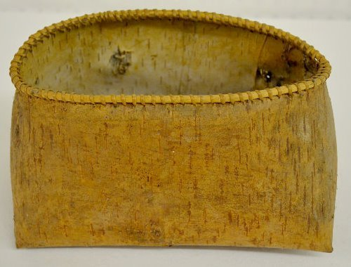 Old Native American Birch Bark Container - 2