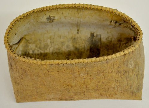 Old Native American Birch Bark Container - 3