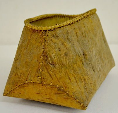 Old Native American Birch Bark Container - 6