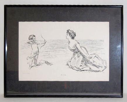 "Framed Life 1900 ""Big Game"" Cupid Print"