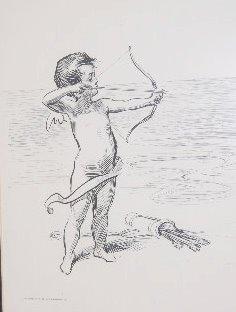 "Framed Life 1900 ""Big Game"" Cupid Print - 2"